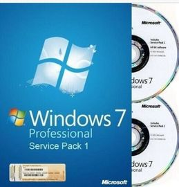 Cina Bahasa Inggris / Perancis Microsoft Windows 7 Professional OEM Key SP1 64Bit DVD OEM Box Distributor