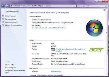 Cina Multi Bahasa Microsoft Windows 7 Home Premium, Sistem Operasi Windows 7 Tombol FPP Distributor